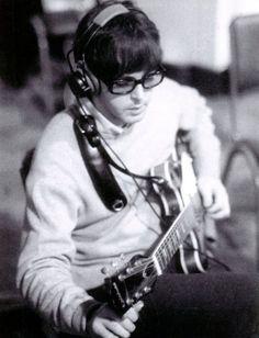 Paul McCartney during a Revolver album recording Session 1966
