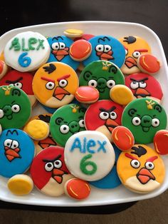 Angry Birds Cookies on FB