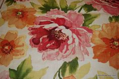 Amazing Linen Texture Modern Watercolor Floral Print ...