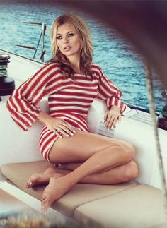 stripes + Kate Moss = perfection