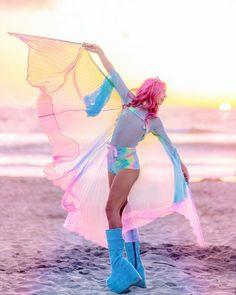 46 New Ideas music festival outfit ultra tie dye Rave Festival Outfits, Festival Costumes, Festival Fashion, Festival Looks, Festival Style, Festival Accessories, Pastel Tie Dye, Costume Shop, Looks Style