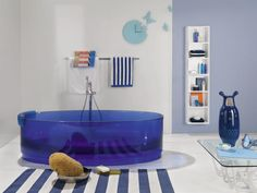 baños de diseño chic transparencia y color