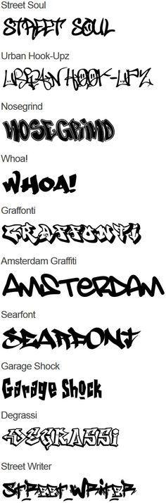 Graffiti Fonts #graffiti                                                                                                                                                                                 More