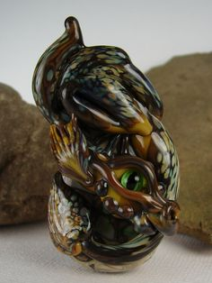 Handmade Lampwork Dragon Bead   Fraener  Glass by by marylockwood, $69.00