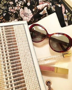 WEBSTA @ aerin - Happy Monday. NYC chic with @berenford.world Jackie O style sunglasses  and Linen Rose Rollerball fragrance. #AERINbeauty #AERINaccessories