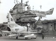 Loading `s aboard Shangri-la in prep for Med. Navy Military, Military Jets, Military Aircraft, Us Navy Aircraft, Navy Aircraft Carrier, Shangri La, Marine Day, Uss Hornet, Douglas Aircraft
