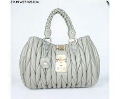 Miu Miu Classic Tote Coffer Bags Online Gray Miu Miu bags, Miu Miu handbags, Miu Miu outlet