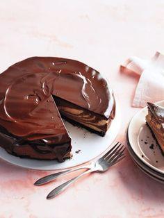 Chocolate Glaze Recipes, Chocolate Peanut Butter Cheesecake, Chocolate Cake, Chocolate Glaze Recipe Without Corn Syrup, Cheesecake Recipes, Cupcake Recipes, Cupcake Cakes, Martha Stewart Recipes, Devils Food
