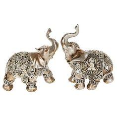 Small Silver Decorative Buddha Elephant Ornament (45621)…