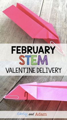 For this February Valentine's Day themed STEM activity students design, build, and test a paper airplane to deliver Valentines.