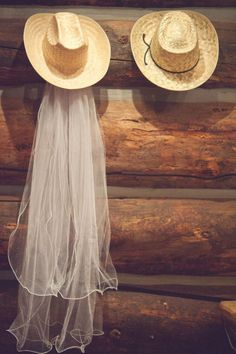 Style Me Pretty | Gallery  Just the veil and then Phillilps cowboy hat?