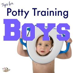 Is your little boy having a tough time learning to use the potty? Great tips in here!