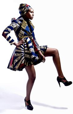 More incredible colours and patterns by Afro-Chique (designed by MS A - fashion designer)
