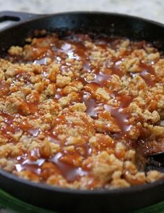 Salted Caramel Apple Crumble - mom made this when my in-laws visited... It was unbelievable!!!