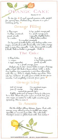Susan B's orange cake.