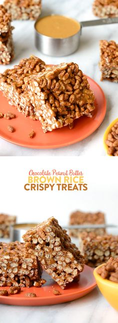 All you need are 3 wholesome ingredients to make these delicious chocolate peanut butter brown rice crispy treats, a dessert the entire family will love!