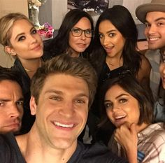 """""""We had so much fun @childrensla So filled with love and gratitude. ✌"""" --Tyler Blackburn, who posted this pic on Instagram in June 2015 with Lucy Hale, Ashley Benson, Keegan Allen, Shay Mitchell, Troian Bellisario and Ian Harding"""