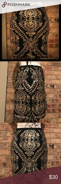 Super stretch Forever21 skirt LOVE the fit on this beauty!! Worn once - sequins are in tact. Very flattering piece Forever 21 Skirts Mini