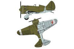 Soviet Polikarpov I-16 Fighter Ver.4 Free Aircraft Paper Model Download