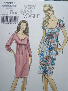 Vogue V8351 Very Easy Sewing Pattern  Women's by WitsEndDesign