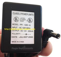 Brand NEW Charger DC 12V 200mA for PPI-1220-UL AC/DC OEM Power Supply Adapter