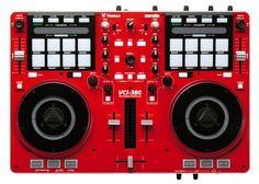 Vestax VCi 380 - Red Ltd Edition DJ Midi Controller with Serato DJ Full Software