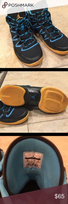 Jorden XX8 flight plate Basketball man's size 12 Basketball man's shoe black and blue, have fews scuffs check photo but good condition. Jordan Shoes Athletic Shoes