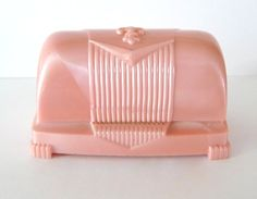 Pink Vintage Ring Box Celluloid Plastic by TreasuresOfGrace