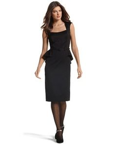 """Faille Peplum Dress - White House 