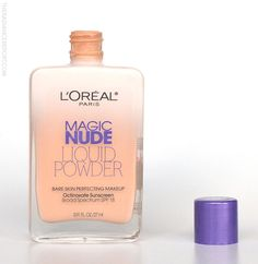 L'Oreal Magic Nude Liquid Powder Bare Skin Perfecting Makeup REVIEW via pinterest.com/radiancereport/  -- (click image for color/product details) #loreal #bblogs #foundation