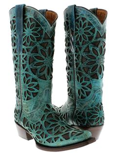 Cowboy Professional Boot Company | Women's Turquoise Vitralli ...