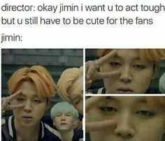 Lmao I can't take Jimin serious at all