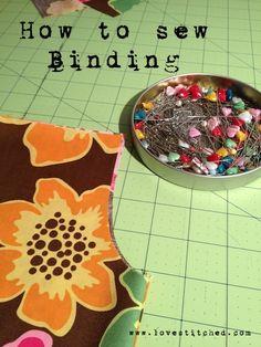 how to sew binding #sewing101 #binding