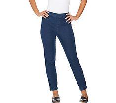 Isaac Mizrahi Live! Regular 24/7 Denim Ankle Jeans with Zips