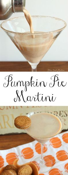 A pumpkin pie martini is the best way to enjoy the delicious flavors of fall.