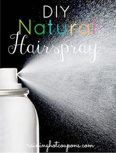 DIY Natural Hairspray!