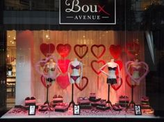 lingerie window display Lingerie Store Design, The Shanty, Visual Merchandising Displays, Boutique Decor, Diy Shops, Store Displays, Valentines, Collections, Shopping