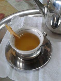 Mundo Vegetariano da Rosana: Chá de gengibre com maracujá