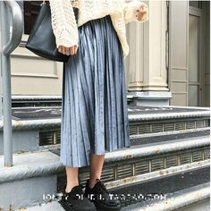 2017 New Autumn And Winter High Waisted Skinny Female Velvet Skirt Pleated Skirts Pleated Skirt Free Shipping  Price: 10.48 USD