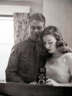Wartime family pictures. The Randalls. [Credit - Vintage couple selfie :) illustrator Sheilah Beckett 1913-2013]