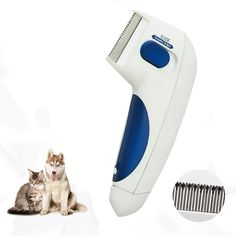 Product Description Electronically-charged flea comb Fleas are painful for your cat or dog. When fleas bite, they can cause a flea allergy dermatitis, which causes itching, making your furry friend scratch and bite. Flea Removal, Garbage Can, Kittens, Cats, Fleas, Bag Storage, Pet Care, Your Pet, Rid