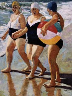 Girl's day at the beach and much more. Achie #painting  #WallArt  @hpman