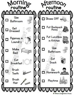 Visual Daily Routine Printable for Kids! Before and After School Preschool Routine