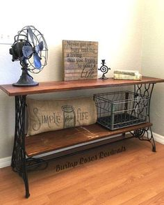 Antique singer sewing machine repurposed into a sofa table. Antique singer sewing machine repurposed into a sofa table. Always wanted to discover how to knit, . Decor, Upcycled Furniture, Repurposed Furniture, Recycled Furniture, Diy Furniture, Painted Furniture, Sewing Machine Tables, Redo Furniture, Refinishing Furniture