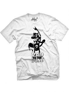 "Men's ""Bad To The Bone"" Tee by Fifty5 Clothing (White) #inkedshop #badtothebone…"