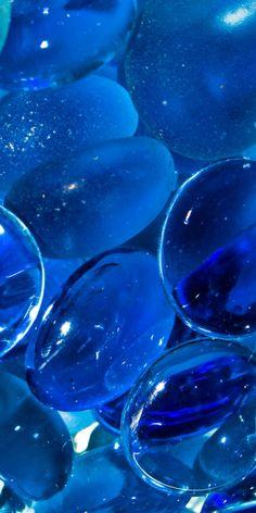 Blue Glass Beads.