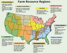 Food Map Of The United States United States States And - Us farming map