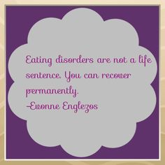 Eating disorders are not a life sentence. You can recover permanently. #eatingdisorder #recovery #anorexia #bulimia #ednos #bingeeatingdisorder #quotes