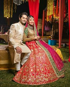 Pakistani Party Wear Dresses, Bridal Mehndi Dresses, Pakistani Dress Design, Pakistani Outfits, Wedding Mehndi, Bridal Lehenga, Couple Wedding Dress, Dream Wedding Dresses, Aiza Khan Wedding