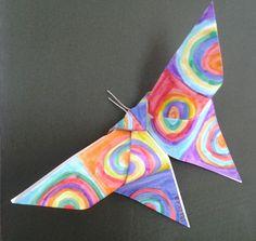 Tekenlesjes: Kandinsky vlinders met origami.